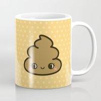 poop Mugs featuring Cutey poop by peppermintpopuk