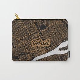 Detroit | Michigan | United States - Minimalist City Map Carry-All Pouch