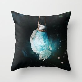 birth of the light Throw Pillow
