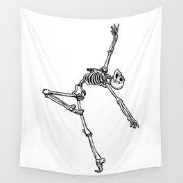 Ballet Skeleton Wall Tapestry