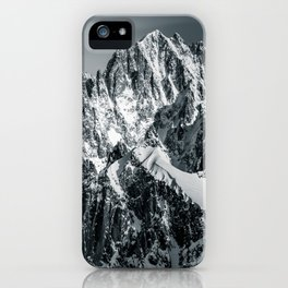 Mountain Top with Snow Landsape iPhone Case