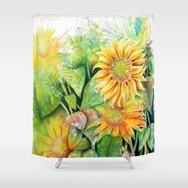 Colorful Sunflowers Shower Curtain