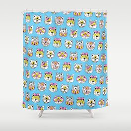 Extraterrestrial Cats Shower Curtain