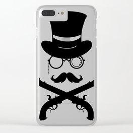 Hipster warrior Guns Clear iPhone Case