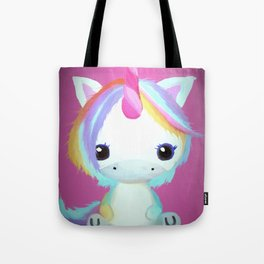 Chibi Unicorn (Dark Pink) Tote Bag