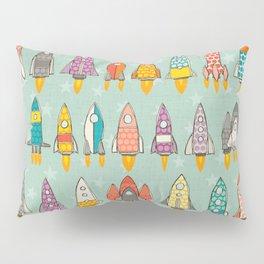 retro rockets mint Pillow Sham