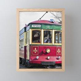 Trolley Streetcar Framed Mini Art Print