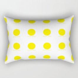 Canary Yellow Rectangular Pillow