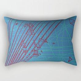Borderline Zone Blue Rectangular Pillow