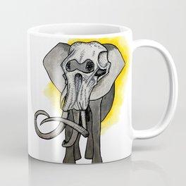 Present Meets Past - Elephant Coffee Mug