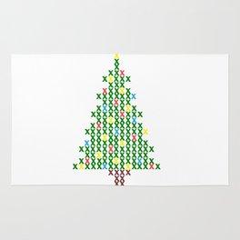 Cross Stitch Christmas Tree Rug