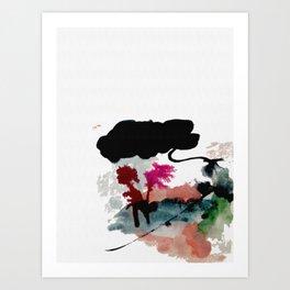 Begin [2]: a minimal abstract mixed media piece Art Print