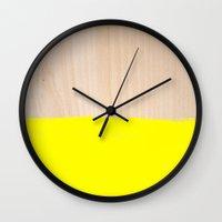 Wall Clocks featuring Sorbet V by Galaxy Eyes
