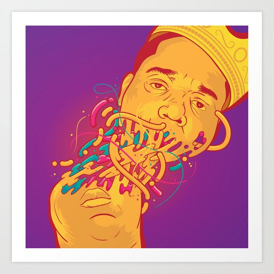 Happily melting Notorious Art Print