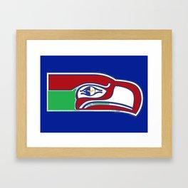 12 Hawks Framed Art Print