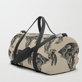 Ancient Warrior (Sabertooth Skull) Duffle Bag