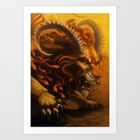 fierce Art Prints featuring Fierce by Armored Collective