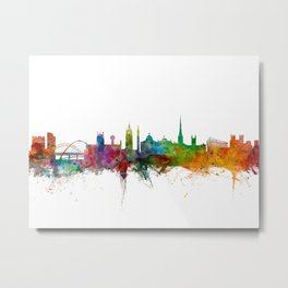 Newcastle England Skyline Cityscape Metal Print