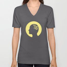 Cogs in the brain Unisex V-Neck