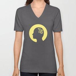 Cogs in the brain Unisex V-Neck