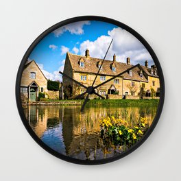 Lower Slaughter (The Cotswolds) Wall Clock