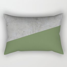 Concrete and kale color Rectangular Pillow