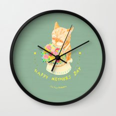 Happy Meowther's Day Wall Clock