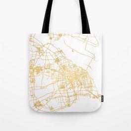 SHANGHAI CHINA CITY STREET MAP ART Tote Bag
