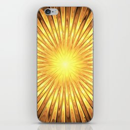 Rays of GOLD SUN abstracts iPhone Skin