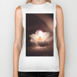 Floating Candle Light Biker Tank