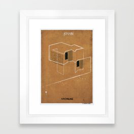 04_Archiline- louis kahn Framed Art Print
