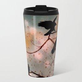 Rainy Day Crows Travel Mug