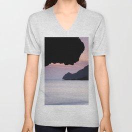 Half Moon sea.... Unisex V-Neck