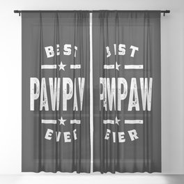 Mens Best PawPaw Ever Father Grandpa Gift Sheer Curtain