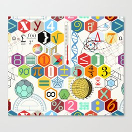 Math in color (white Background) Canvas Print