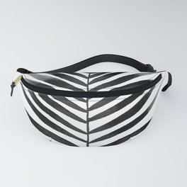 Palm Leaf Watercolor | Black and White Fanny Pack