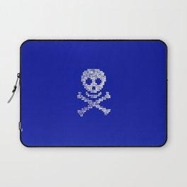 PIRATE SKULL Blue Laptop Sleeve