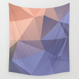 Ariel — poster purpur, violet, rosa, nude, solmon, low poly, geometric, water, landscape, sunrise Wall Tapestry