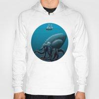 kraken Hoodies featuring Kraken by Jay A