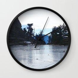 Watercolor Landscape, Gem Lake 02, RMNP, Colorado Wall Clock