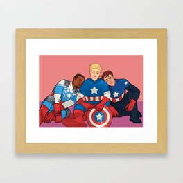 Cap Nap Framed Art Print