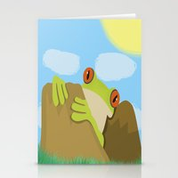 frog Stationery Cards featuring Frog by Nir P
