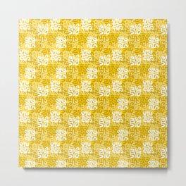 Swanky Mo Yellow Metal Print
