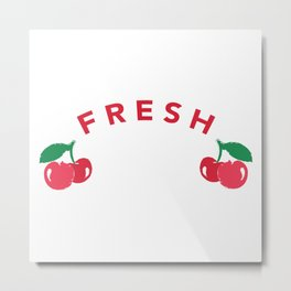 Fresh Cherry Metal Print