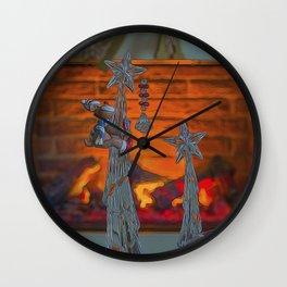 Season Greetings. Wall Clock