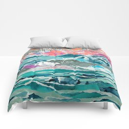 Abstract Collage Landscape Comforters