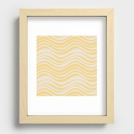 Tides in Yellow Recessed Framed Print