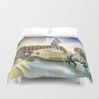 apollo Duvet Covers featuring Oh Apollo! by ExperienceTheFrenchRiviera