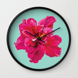Hibiscus (Part of a Triptych) Wall Clock