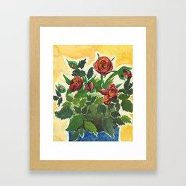 Sweet Red Roses Framed Art Print